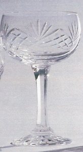 *SALE* Durham Crystal Champagne Saucer With Engravable Panel 1