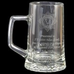 Engraved Stern Glass Tankards. Price Includes Engraving.