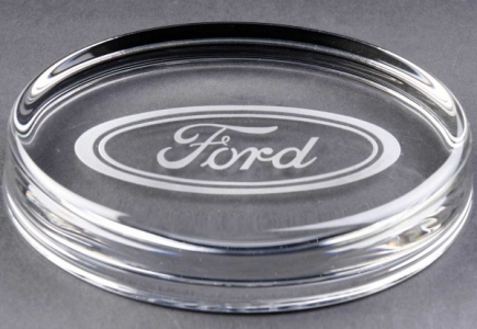 Engraved Oval Glass Paperweights. Price Includes Engraving