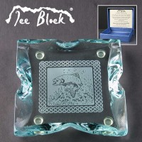 Ice Block Engraved Glass Coasters Supplied In A Branded Box. Price Includes Engraving