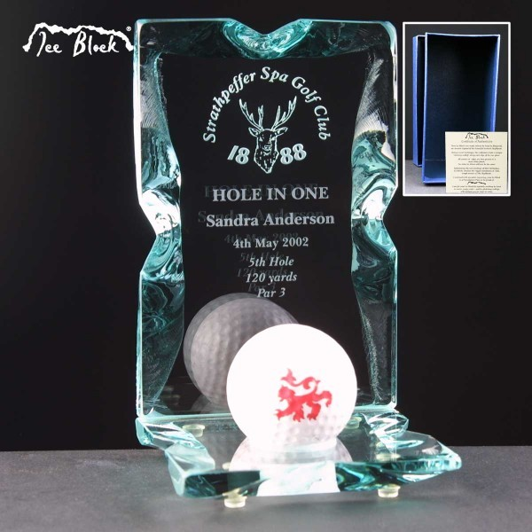 Hole In One Ice Block Golf Trophies 1