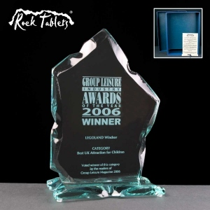 Blackwater Flame Rock Tablet Glass Awards Supplied In A Branded Box. Price Includes Engraving