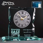 Rock Tablet Glass Clock Supplied In A Branded Box. Price Includes Engraving.