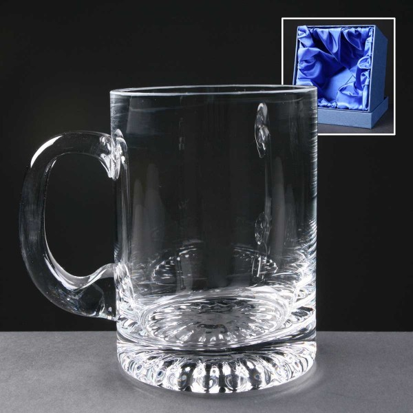 Balmoral Engraved Glass Tankards Supplied In A Satin Lined Presentation Box. Price Includes Engraving