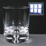 6x Balmoral Glass Bubble Based Engraved Whisky Glasses In Presentation Box