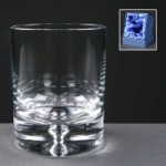 Balmoral Glass Bubble Based Engraved Whisky Glasses In Presentation Box