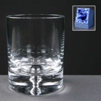 Balmoral Glass Bubble Based Engraved Whisky Glasses In Presentation Box 1