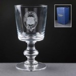 Balmoral Glass Sussex Engraved Wine Glasses In Blue Cardboard Box