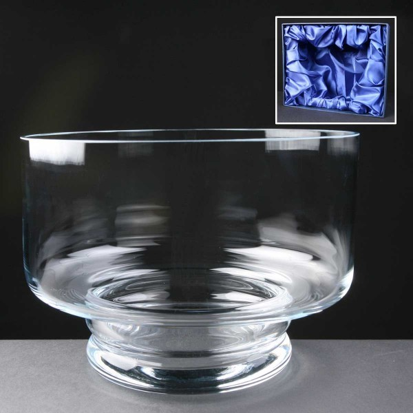 Balmoral Glass Engraved Glass Bowls Supplied In A Satin Lined Presentation Box. Price Includes Engraving