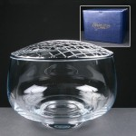Balmoral Glass Engraved Rose Bowls Supplied In A Blue Cardboard Gift Box. Price Includes Engraving.