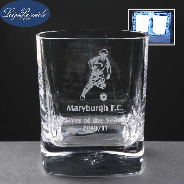 2x Strauss Engraved Whisky Glasses In Presentation Box 1