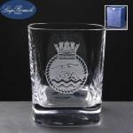 Strauss Whisky Glass In Blue Cardboard Box