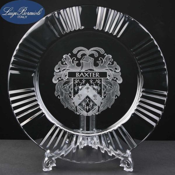 Barocco Star Engraved Glass Plates In Cardboard Box 1