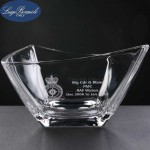 Luigi Bormioli Michaelangelo Engraved Glass Bowl Supplied In A Cardboard Box. Price Includes Engraving.