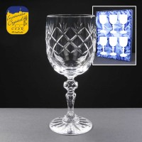 6x Earle Crystal Engraved Wine Glasses With Panel For Engraving In Presentation Box 1