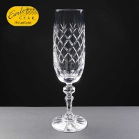Earle Crystal Champagne Flute With Panel For Engraving 1