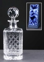 Earle Crystal Engraved Crystal Decanters With Panel For Engraving Supplied In A Presentation Box. Price Includes Engraving