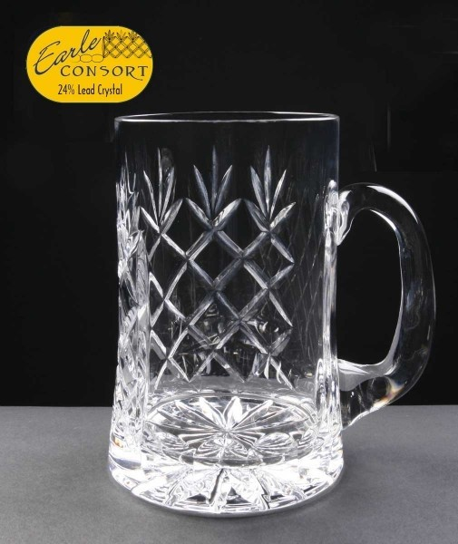 Engraved Earle Crystal Tankards With Panel For Engraving Supplied In A Cardboard Box. Price Includes Engraving