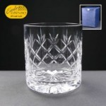 Earle Crystal Whisky Glass With Panel For Engraving In Blue Cardboard Box