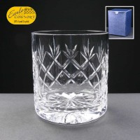 Earle Crystal Whisky Glass With Panel For Engraving In Blue Cardboard Box 1