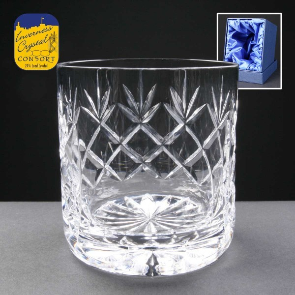 Earle Crystal Whisky Glass With Panel For Engraving In Presentation Box 1