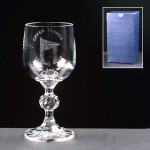 Claudia Wine Glass In Blue Cardboard Box
