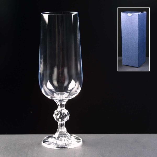 Claudia Champagne Glass In Blue Cardboard Box 1
