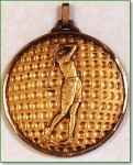 Female Golfer Medal