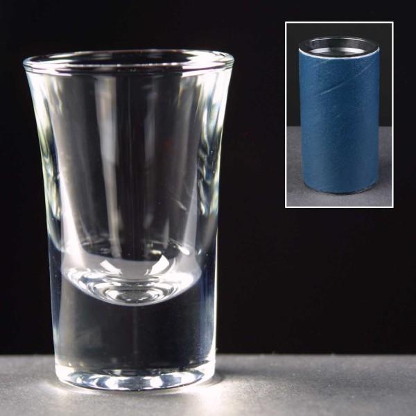 1oz Shot Glass In Blue Cardboard Tube 1