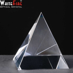 Whitefire Pyramid Crystal Awards Supplied In Velvet Lined Presentation Case. Price Includes Engraving