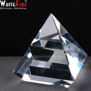 Whitefire Elevated Pyramid Crystal Awards Supplied In A Velvet Lined Presentation Case. Price Includes Engraving