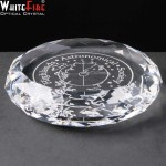 Whitefire Optical Crystal Round Paperweight Supplied In A Velvet Lined Presentation Box. Price Includes Engraving.