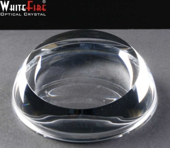 Whitefire Sliced Dome Crystal Engraved Paperweights Supplied In A Velvet Lined Presentation Case. Price Includes Engraving