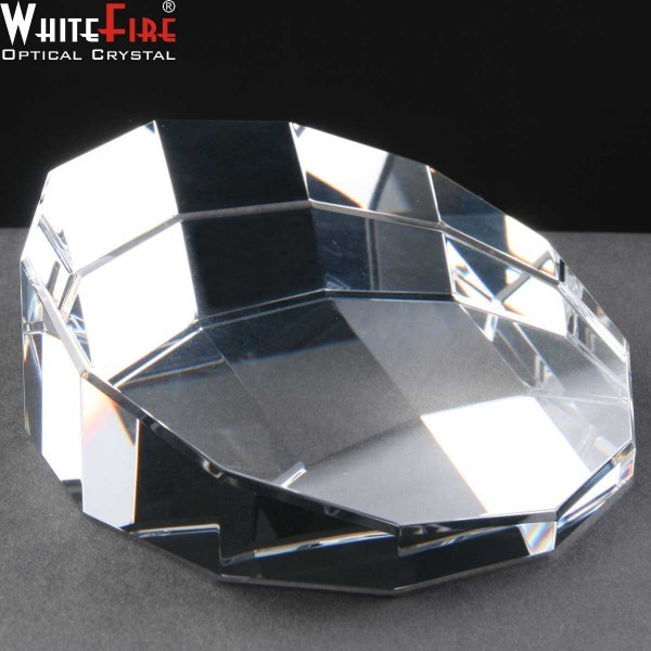 Whitefire Sliced Dodecahedron Engraved Crystal Paperweights Supplied In A Velvet Lined Presentation Case. Price Includes Engraving