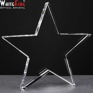 Whitefire Star Shaped Crystal Awards Supplied In A Velvet Lined Presentation Case. Price Includes Engraving