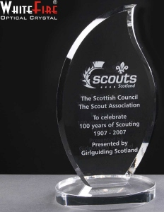 Whitefire Glen Esk Crystal Awards Supplied In A Velvet Lined Presentation Case. Price Includes Engraving