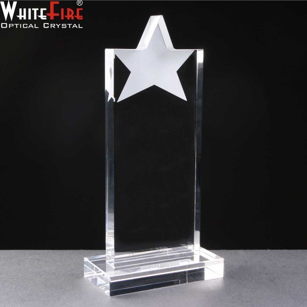 Whitefire Star Tablet Crystal Awards Supplied In A Velvet Lined Presentation Case. Price Includes Engraving