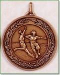 Girls Football Medal - 50mm