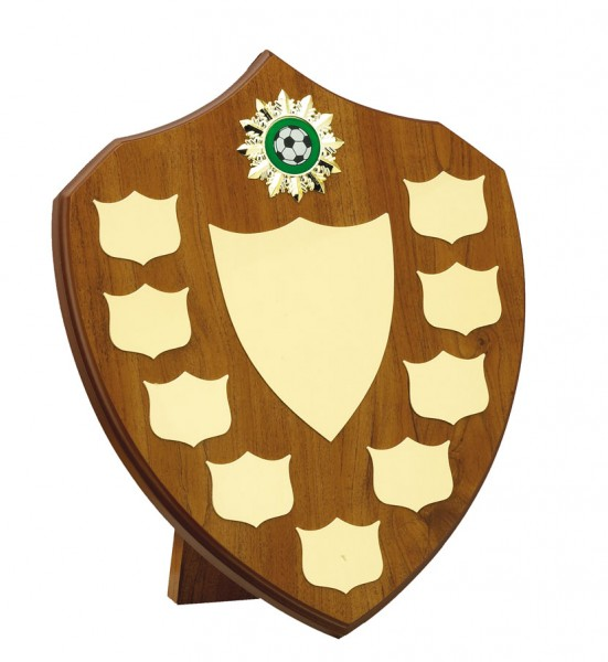 Beech Coloured Wooden Annual Shields With Gold Trims 1