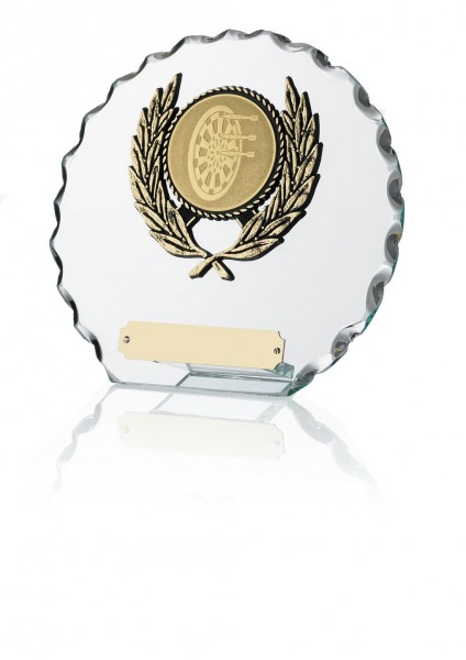 Circle Shaped Glass Plaques With Trim 1