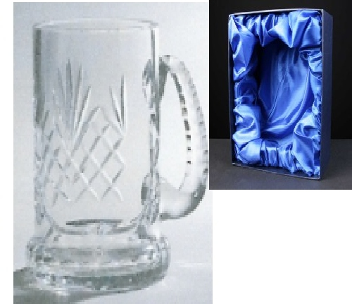 *SALE* Engraved Durham Crystal 1 Litre Tankard Supplied In Satin Lined Presentation Box 1