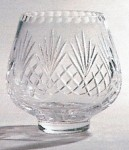 *SALE* Durham Crystal Posy Bowl With Panel For Engraving