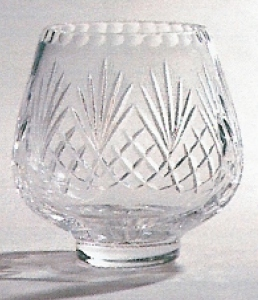*SALE* Durham Crystal Posy Bowl With Panel For Engraving 1