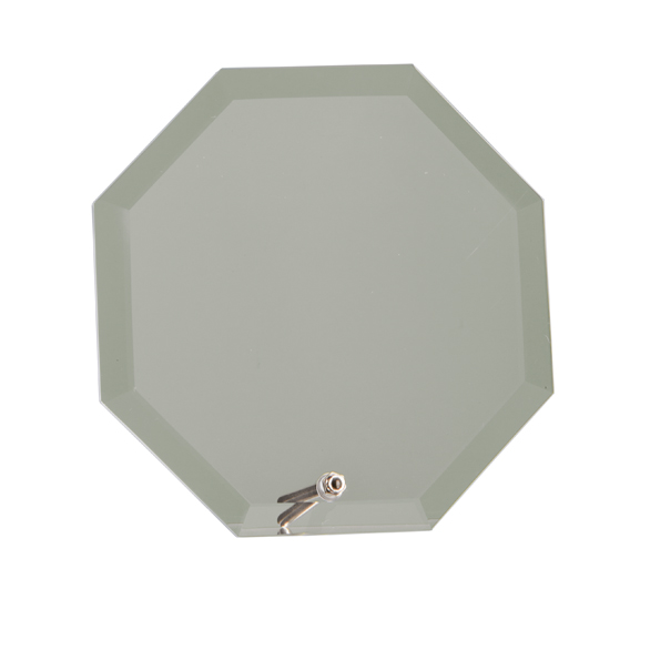 Octagon Shaped Glass Awards With Chrome Stand Supplied In White Cardboard Box 1