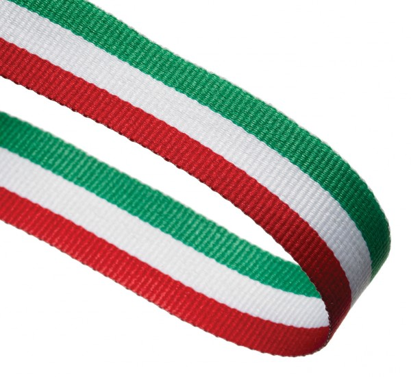 Red / White / Green Woven Medal Ribbons With Clip 1