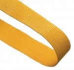 Yellow Woven Medal Ribbons With Clip