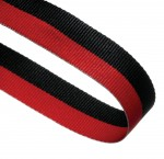 Red/Black Woven Medal Ribbons With Clip