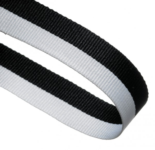 Black / White Woven Medal Ribbons With Clip 1