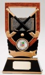 Resin Hockey Trophies In Bronze Coloured Finish