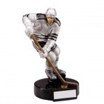 Resin Ice Hockey Trophies In Antique Silver Coloured Finish